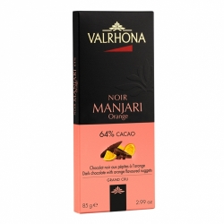 Valrhona DARK MANJARI ORANGE 64%, 85g
